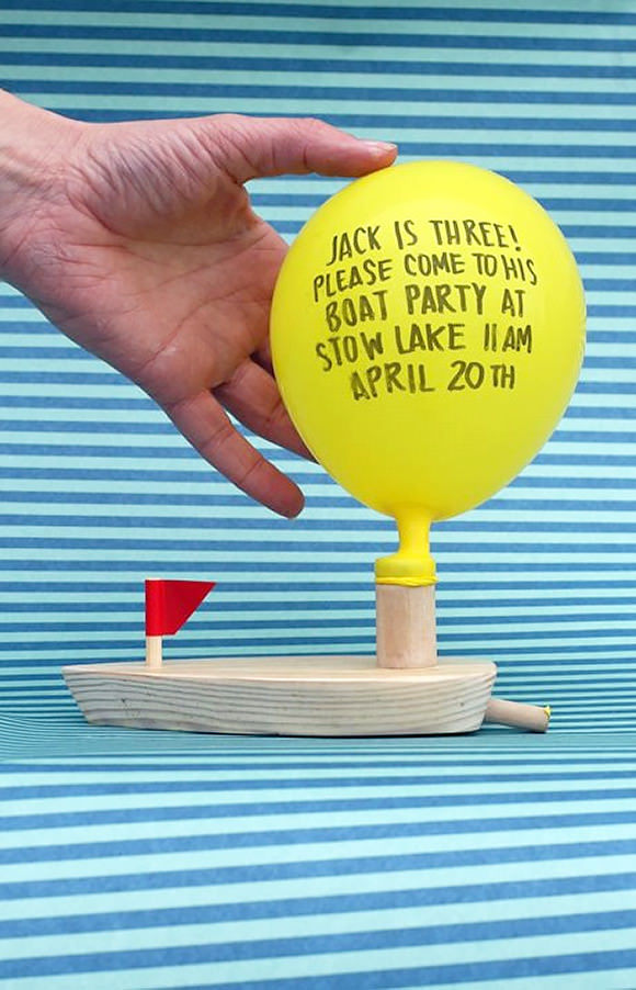 DIY Wooden Boat Invitations