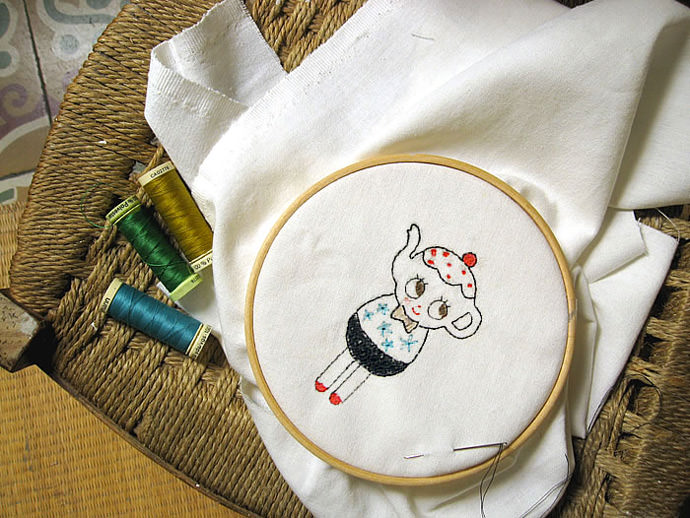 Kettle Doll Embroidery Pattern