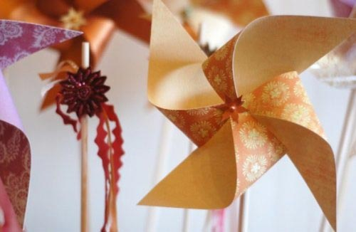 diy pinwheels and ribbon wands