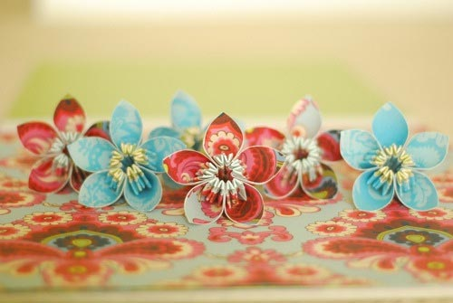 papercraft kusudama flowers