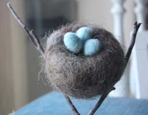 Etsy Finds: Needle Felted Nest with Eggs