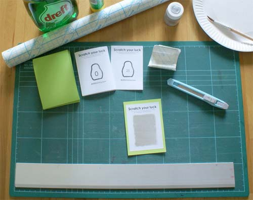 Projects: Scratch Off Lottery Ticket   Handmade Charlotte