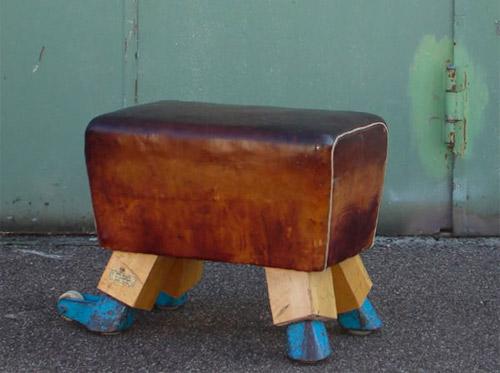 Vintage Pommel Horse Stool