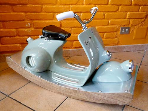 Vespa Transformed Into Cool Rocking Horse