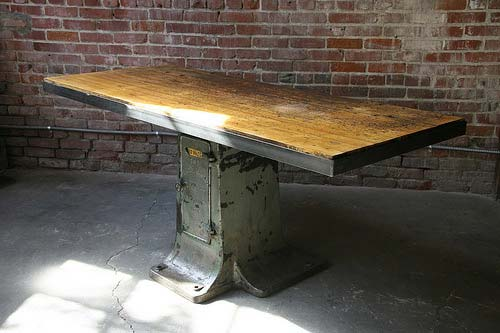 Vintage Industrial Work Tables