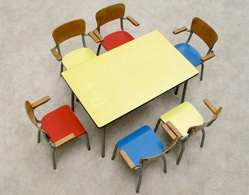 school table and chairs. Vintage Belgian School Table And Chairs