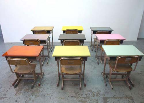 Vintage school desk and chair excellent condition