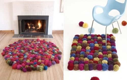 pom pom rug free pattern