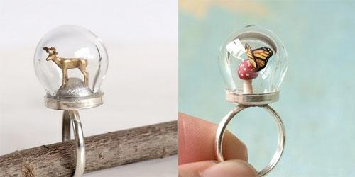tiny woodland terrarium rings on etsy