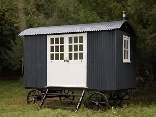 shepherd hut exterior