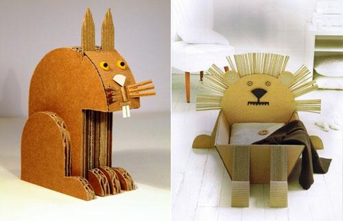 cardboard zoo by claude jeantet