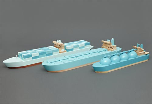 wooden toy boats