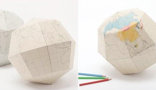 Geografia Blank Sectional Globe