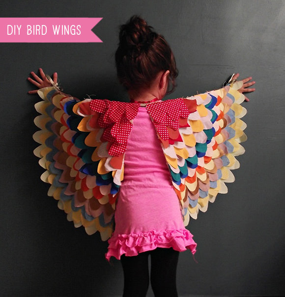 Diy bird wings costume for kids handmade charlotte diy bird wings costume for kids solutioingenieria Image collections