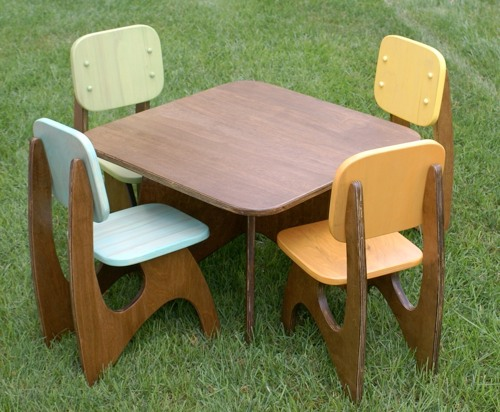 Etsy Finds Modern Child Table Set