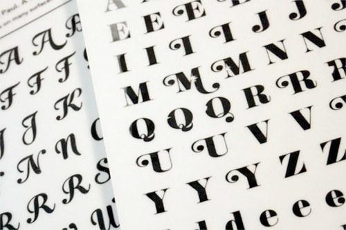 letter set transfers by veer handmade charlotte