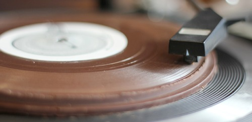 edible chocolate records