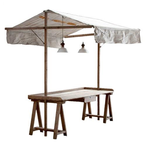 Market Stand Designs : Vintage garden table handmade charlotte