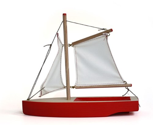 wooden toy boats made from 19th century patterns