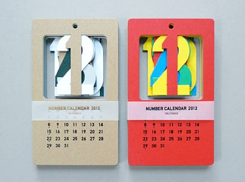 Handmade Table Calendar Designs : Cut out calendar by present correct ⋆ handmade