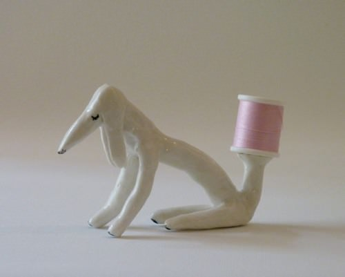 Porcelain Bobbin Holder by EleonorBostrom on Etsy