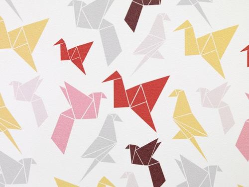 Origami Wallpaper By Dottir Amp Sonur Handmade Charlotte