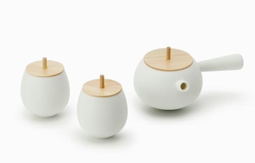 Spinning Top Tea Set by Nendo