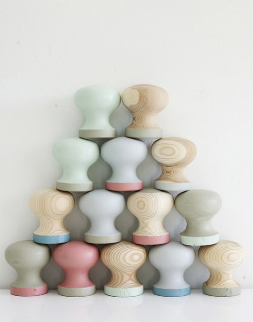 Hand-Painted Pastel Knobs