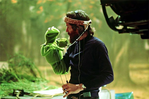 Jim Henson and Kermit the Frog Muppet