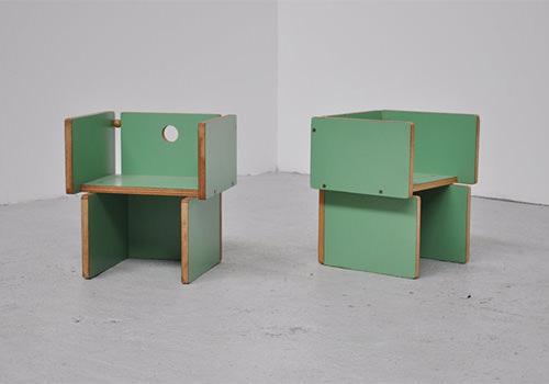 vintage modern children's chairs