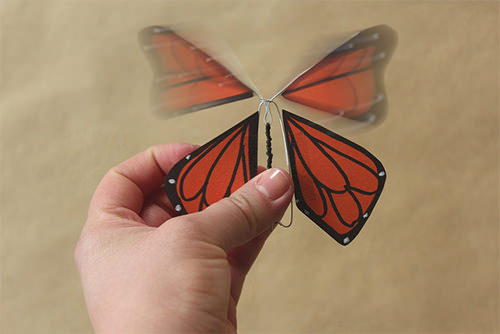 DIY Wind-Up Paper Butterflies
