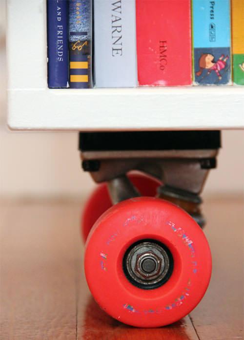 DIY Skateboard Book Cubby