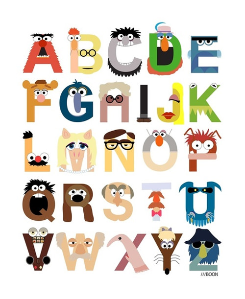 muppet alphabet print