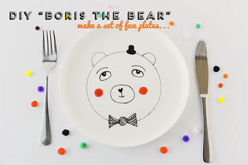 diy boris the bear fun plate