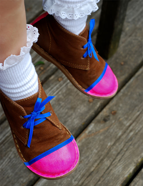 DIY Neon Shoes for Kids