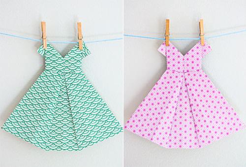 diy origami dresses