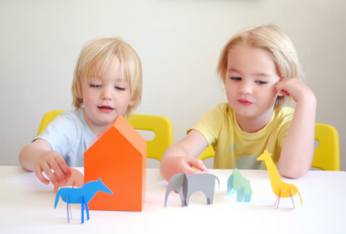 diy paint chip animals