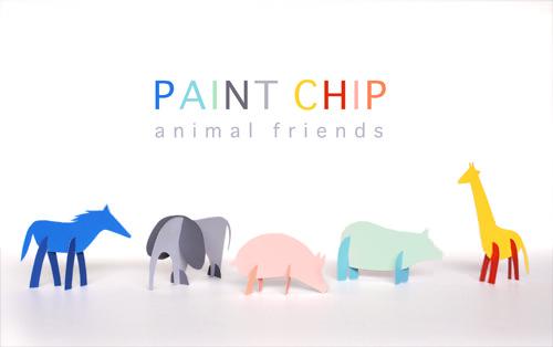 diy paint chip animal friends