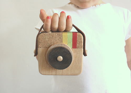 Wooden Instagram Camera For Kids