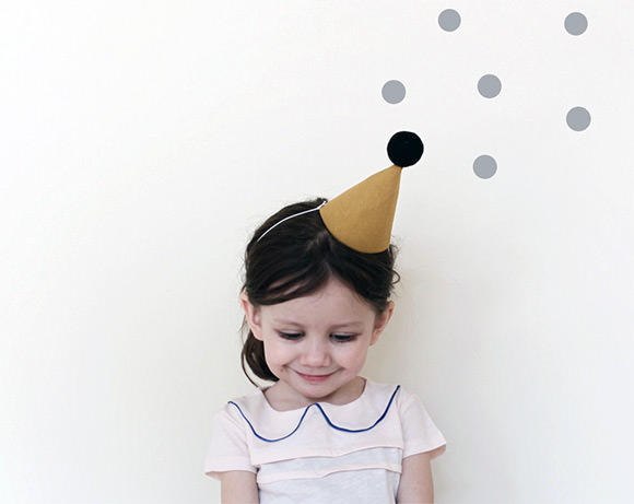 Handmade Linen Party Hat via Colette Bream on Etsy