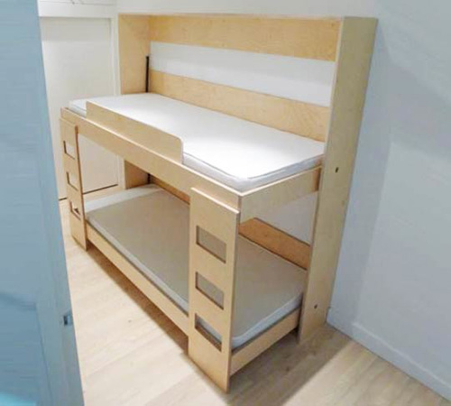 Double Murphy Bunk Bed for Kids ⋆ Handmade Charlotte