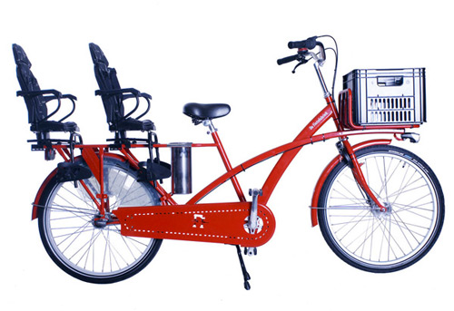 De Fietsfabriek PackMax Duo dutch family bicycle