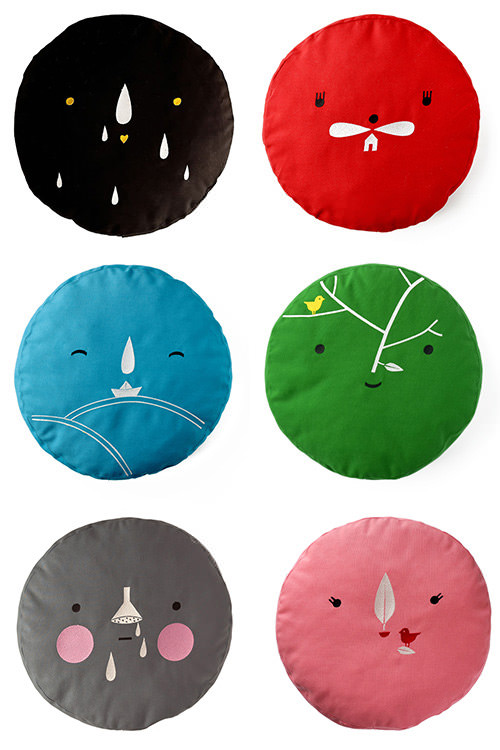 Cute pillows by Ana Ventura