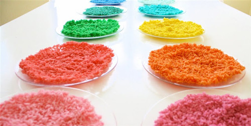 DIY Colored Rice Craft Tutorial For Kids