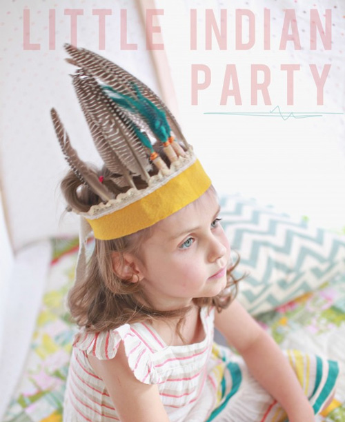 DIY Indian Party Hat