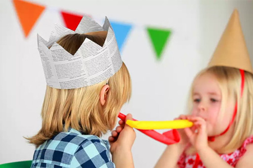 DIY Newspaper Party Crown