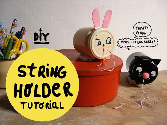 DIY Vintage-Inspired String Holder Tutorial