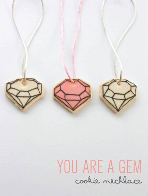 DIY Gem Cookie Necklace for Kids