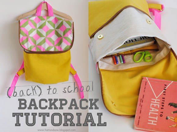 DIY back-to-school backpack for kids tutorial