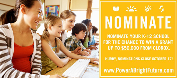Power A Bright Future School Grant Program by Clorox